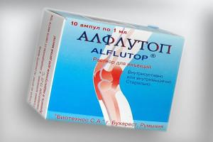 Лекарство Алфлутоп: инструкция по применению, цена, отзывы