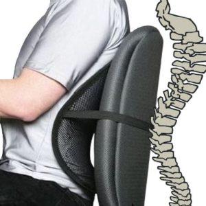 Ортопедическая подушка под спину для офисного кресла