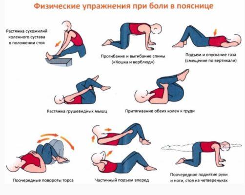 Упражнения при остеохондрозе и сколиозе
