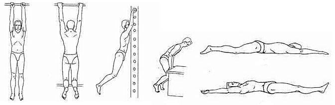 Вытяжение позвоночника при помощи упражнений