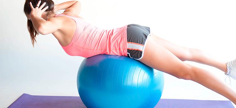 Гимнастический мяч – упражнения для позвоночника