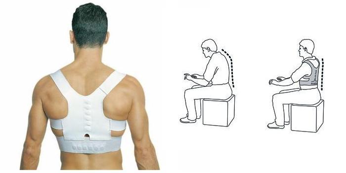 Корсет для избавления от сутулости спины